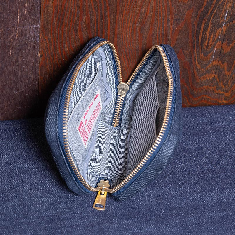 《PORRO》 ROUND ZIP POUCH (DENIM)