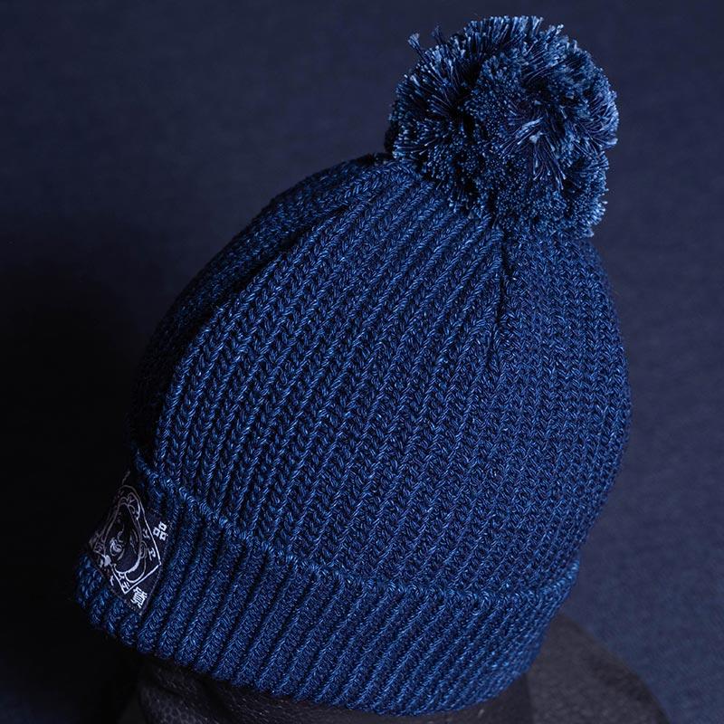 《YAMACHAN BOU》 COTTON KNIT CAP (RIB/INDIGO)