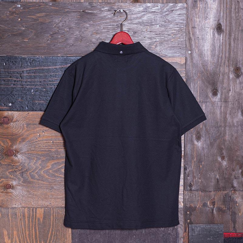 《BEIJING CP》 POLO SHORT SLEEVE (PIN KAMOME刺繍) BLACK
