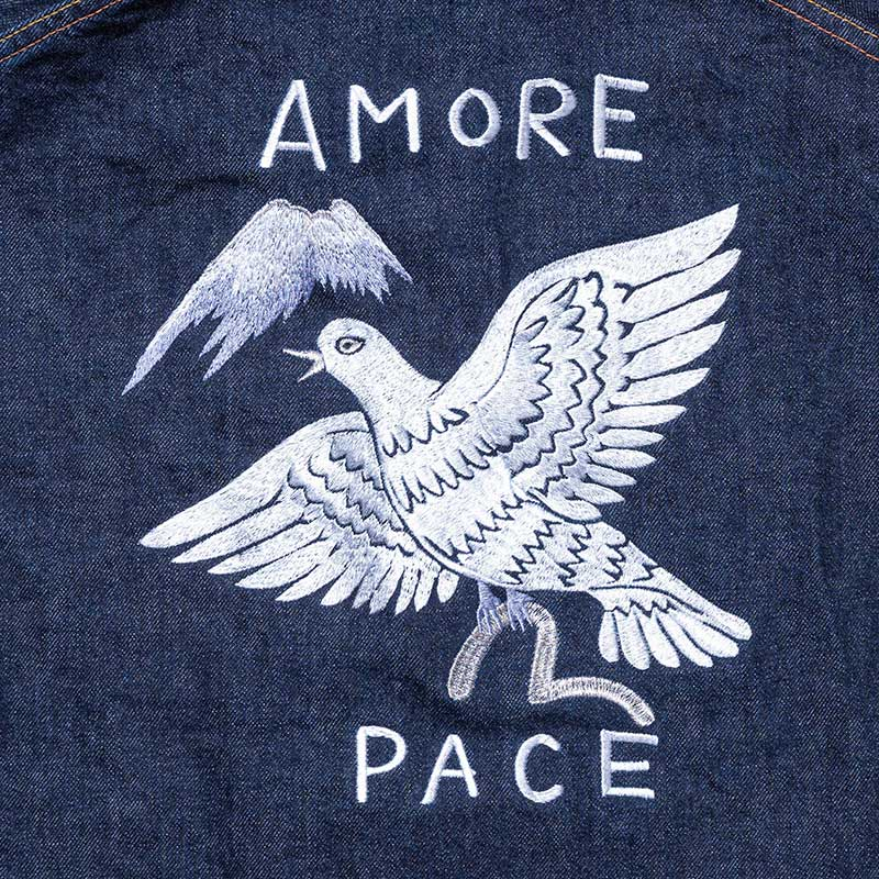 《THOMAS》 DENIM JACKET (EMBROIDERY/AMORE PACE)
