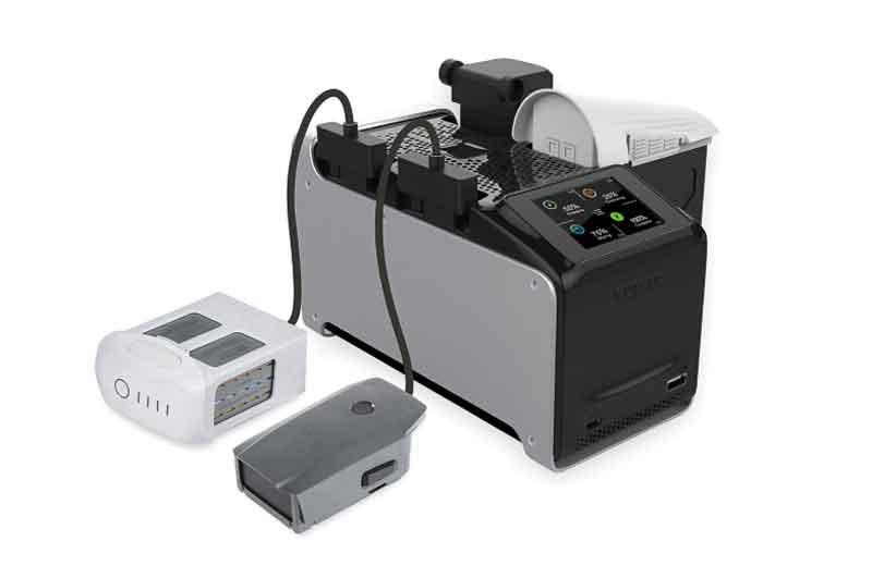 イーブイ・ピーク/EV-PEAK DJ1 AC/DCDJIドローン用マルチ充電器(4個同時充電) Phantom 3, Phantom 4, Inspire, Mavic, M100, M600対応