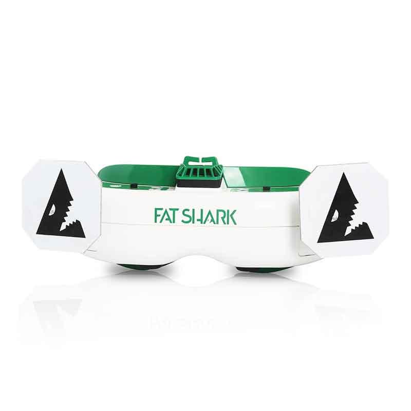 FatShark AttitudeV6 本体カラーホワイト・グリーン FPVゴーグル ドローン空撮用 FSV1124
