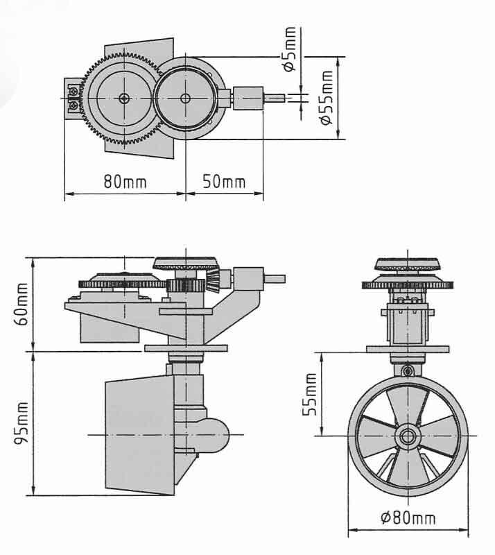 Graupner ショッテルドライブ Schottelantrieb II #2335V2