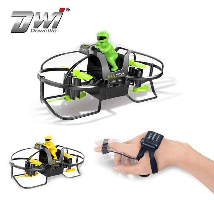 DWI DowellinミニドローンオートバイRCナノQuadcopterドローン (カメラ無し)