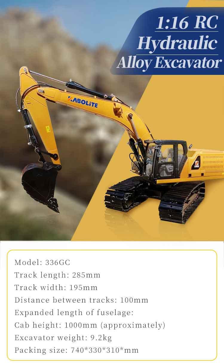 HuiNa Toys 油圧カボライト336GCRCショベル(最新バージョン2021モデル)フルメタル 1/16 RC ショベル (RTR)
