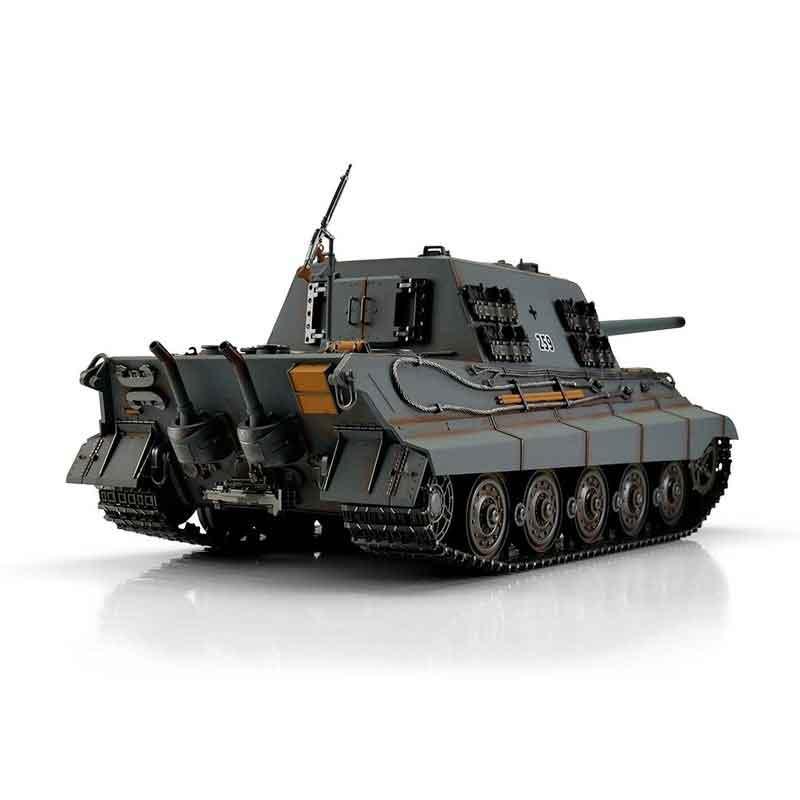 Torro 1/16JagdTigerプロ-メタルエディション2.4Ghz(金属キャタピラ・赤外線バトルシステム・サウンド・発煙仕様・ジャーマングレー迷彩塗装)1/16 RC Jagdtiger grey IR 1112200786