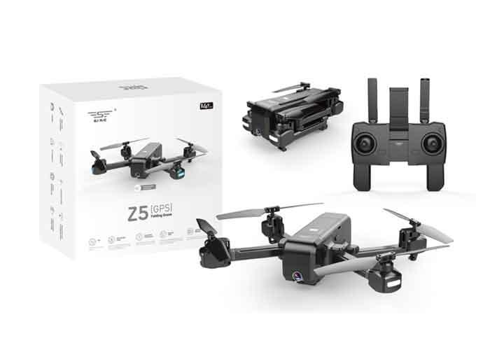 SJRC/エスジェイ・アールシー  Z5 5G Wifi FPV 1080P カメラ ダブル GPSダイナミックフォローRCドローン - ブラック バッテリー2個