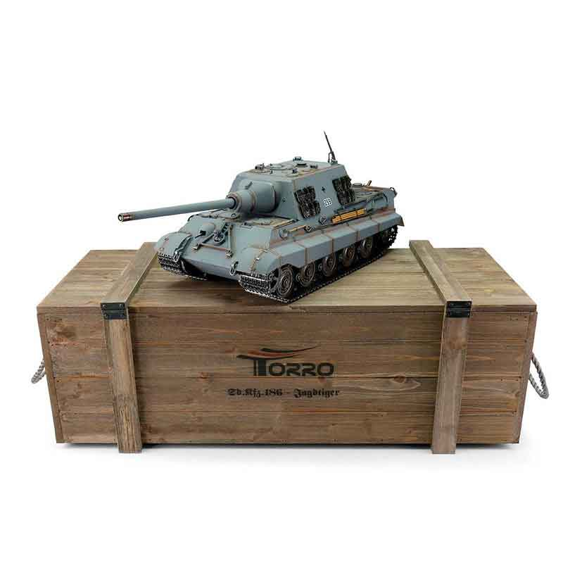 Torro 1/16JagdTigerプロ-メタルエディション2.4Ghz(金属キャタピラ・BB・サウンド・発煙仕様・ジャーマングレー迷彩塗装)Jagdtiger BB  grey 1112200785