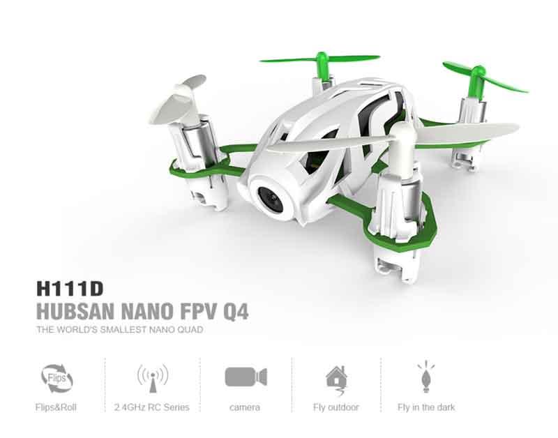 HUBSAN/ハブサン NANO Q4  FPV  5.8G 480P Camera  6 Axis Gyro  Mode 2 (H111D)