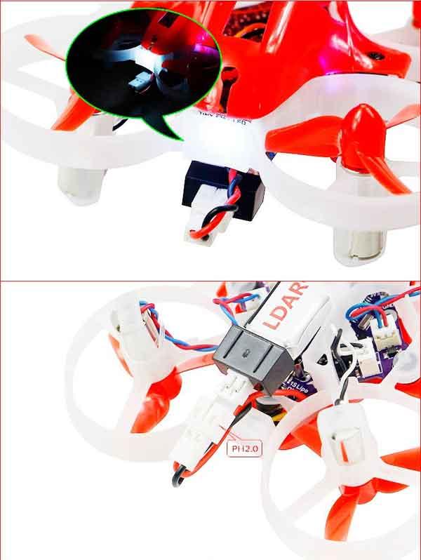 KingKong TINY 6X 65mm  レーシングドローン RTF Mode1(KINGKONG/LDARC TINY 6X 65mm Micro Racing FPV Quadcopter RTF)
