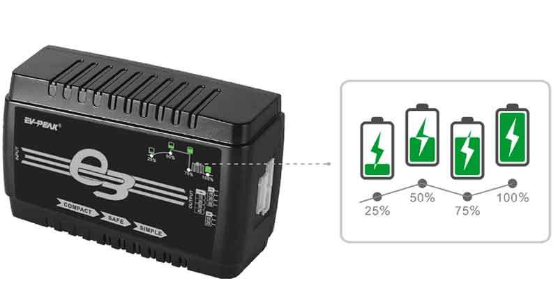 イーブイ・ピーク/EV-PEAK e3 Lipoバッテリーバランス充電器(AC100V)