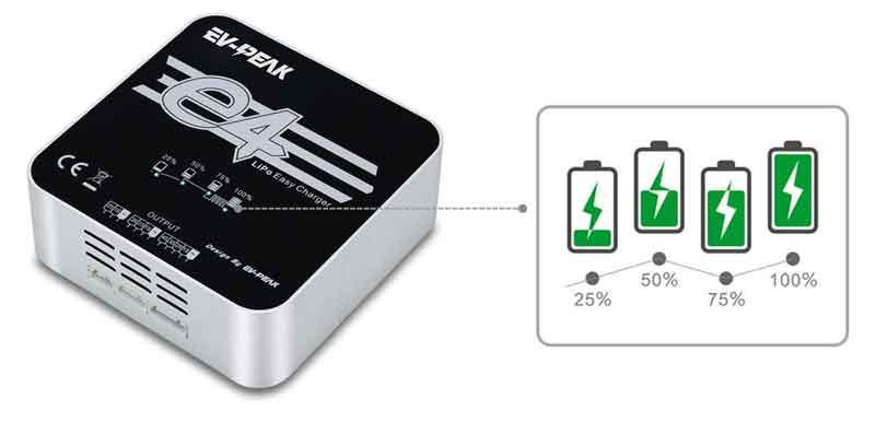 イーブイ・ピーク/EV-PEAK e4 Lipoバッテリーバランス充電器(AC100V)