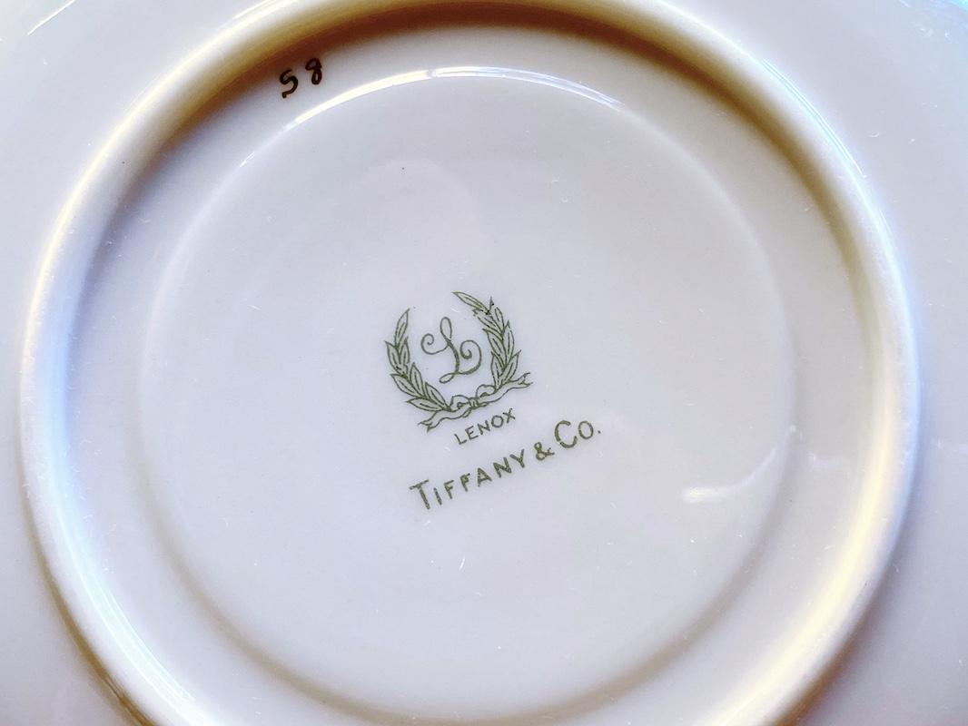 ティファニー ゴールドエッチングカップ&ソーサー