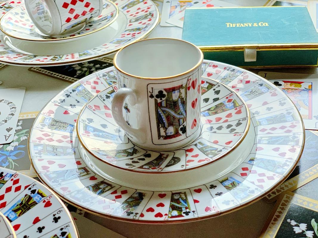 ティファニーで朝食を 手彩トランプ・カードトリオ