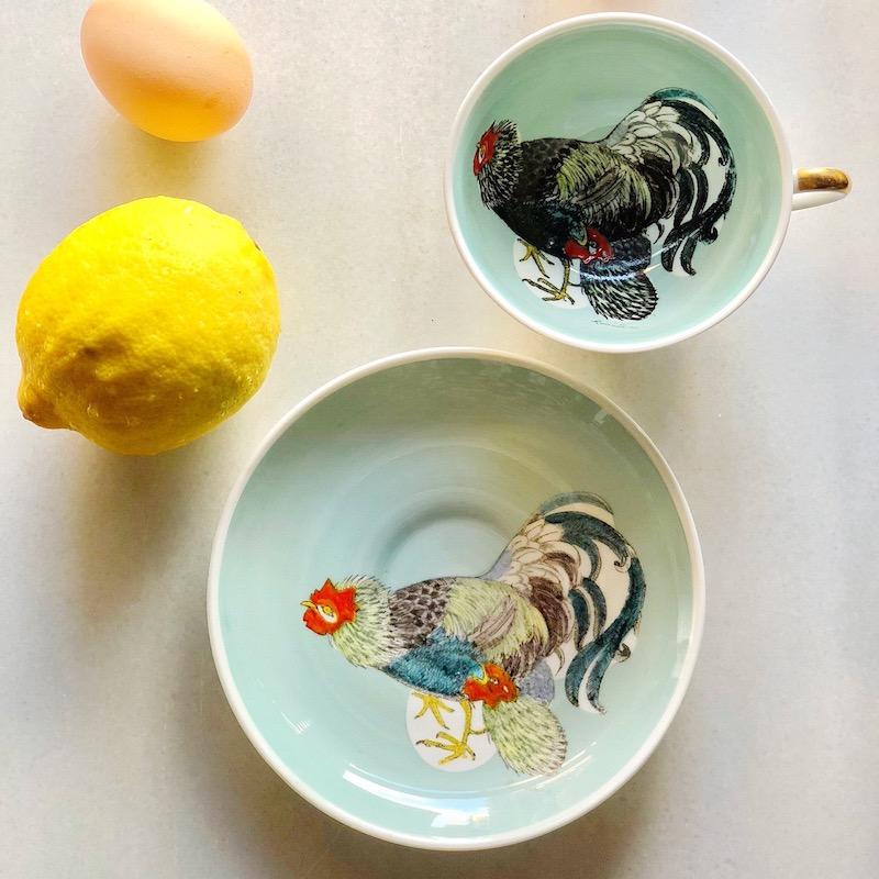 スージークーパー ルースターカップ&ソーサー2