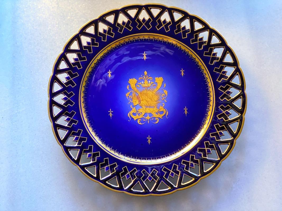 オールド・パリ  ルイ12世様式透彫プレート(6枚セット)