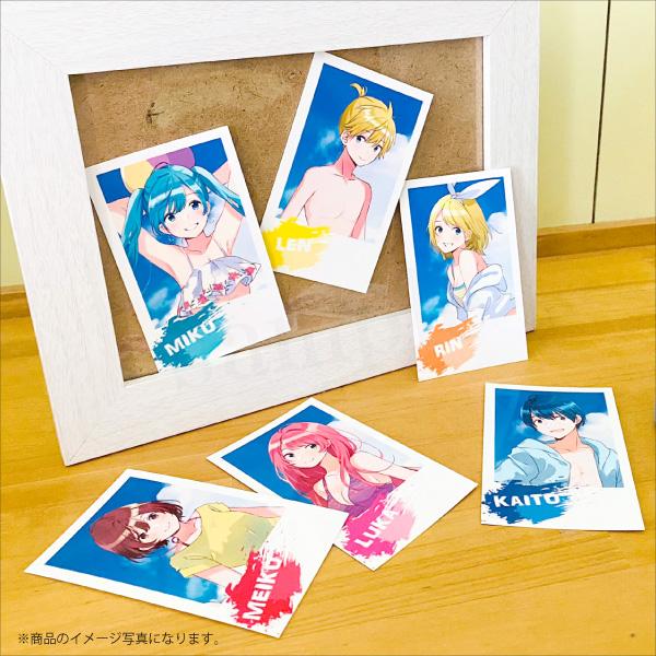 【初音ミク Summer Party】チェキ風カードセット <Summer Party>フライver.