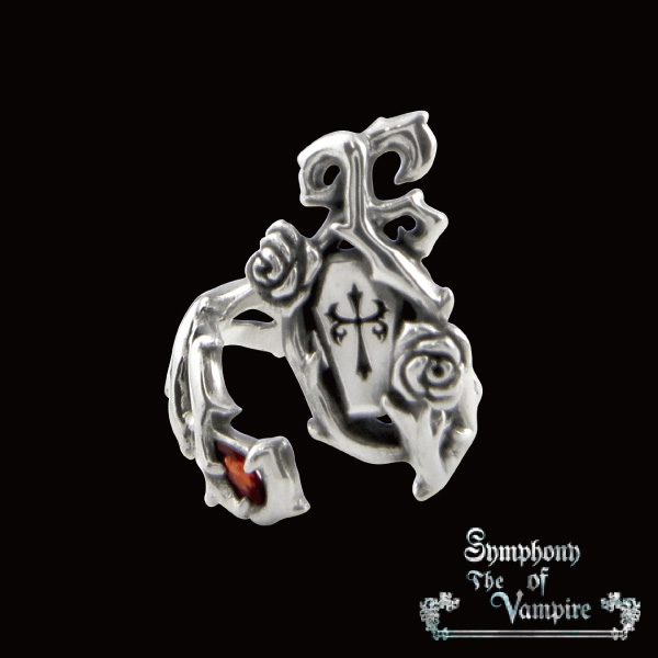 【SoTV】Garnet & Coffin Nail リング/Symphony of The Vampire