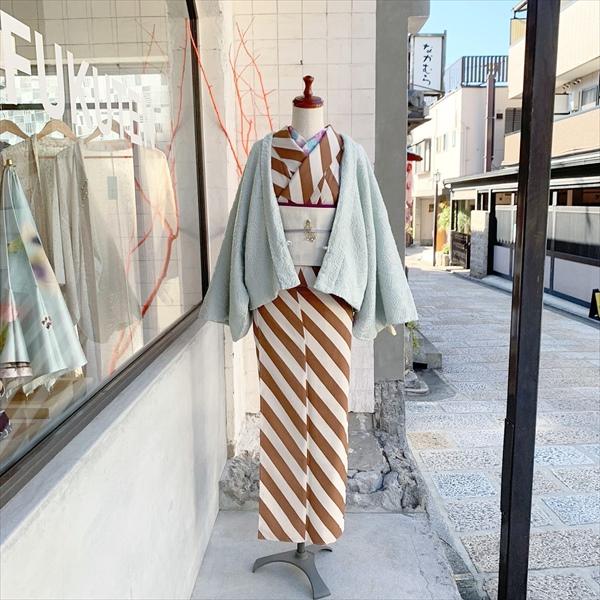 ショート丈袷羽織 ジオメトリー
