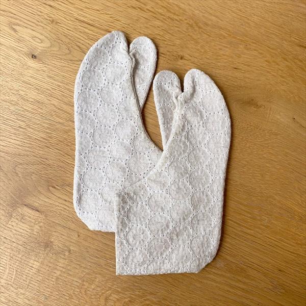 コットンレース足袋 22.5cm