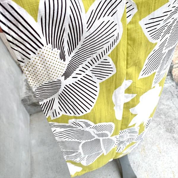 コットン浴衣 蓮