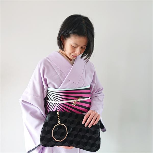 【居内商店×大塚呉服店】 京袋名古屋帯 幾何学/ピンク