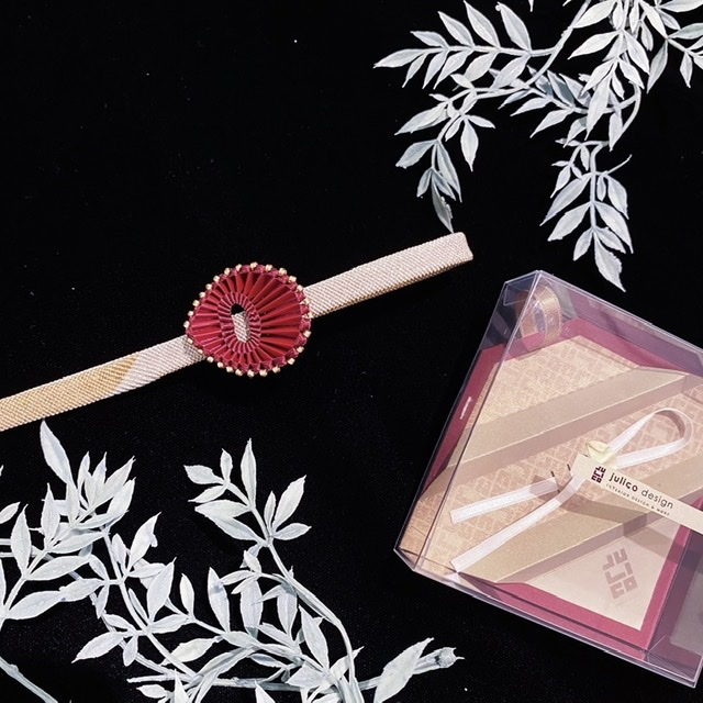 julico.design/帯留 あるいは花びら no.1 burgundy