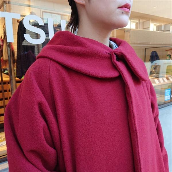 ウールコート 赤