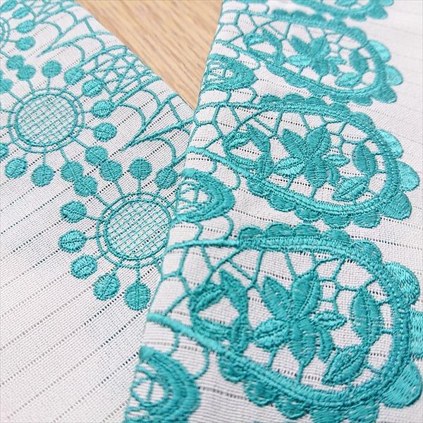 半衿 刺繍/絽