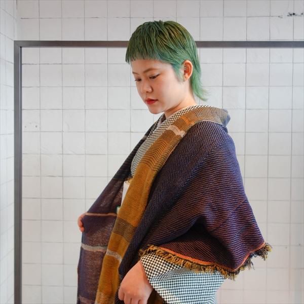 tamakiniime ウールショール/MIDDLE 暖色系