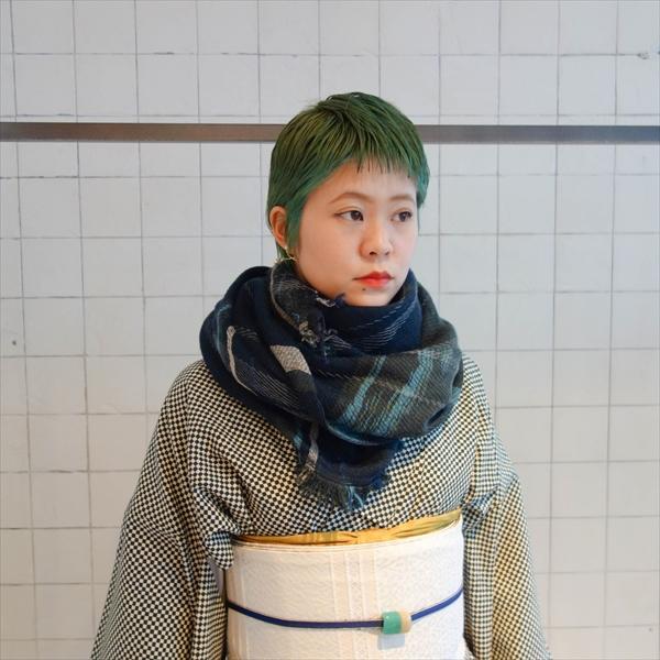 tamakiniime ウールショール/MIDDLE 寒色系