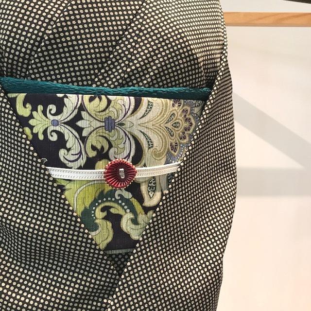 正絹半巾帯 アラベスク
