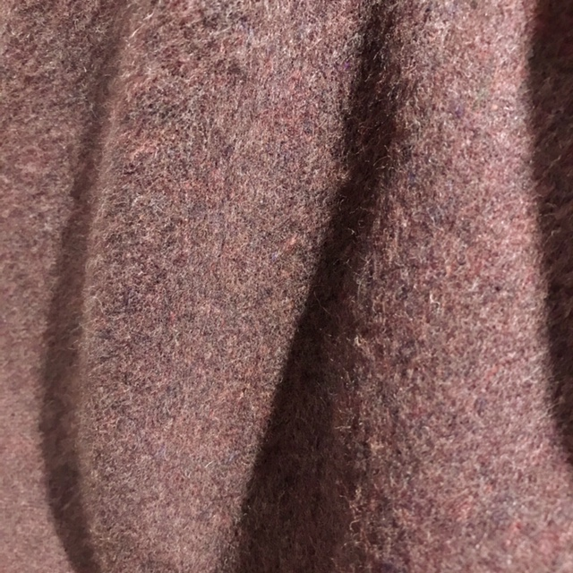 ウールシャギーショートコート/ブラウン
