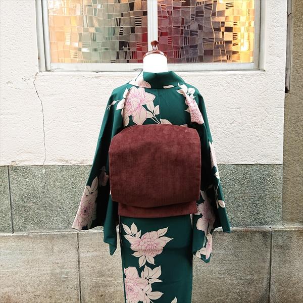 オリジナル名古屋帯 コーデュロイ/ブラウン