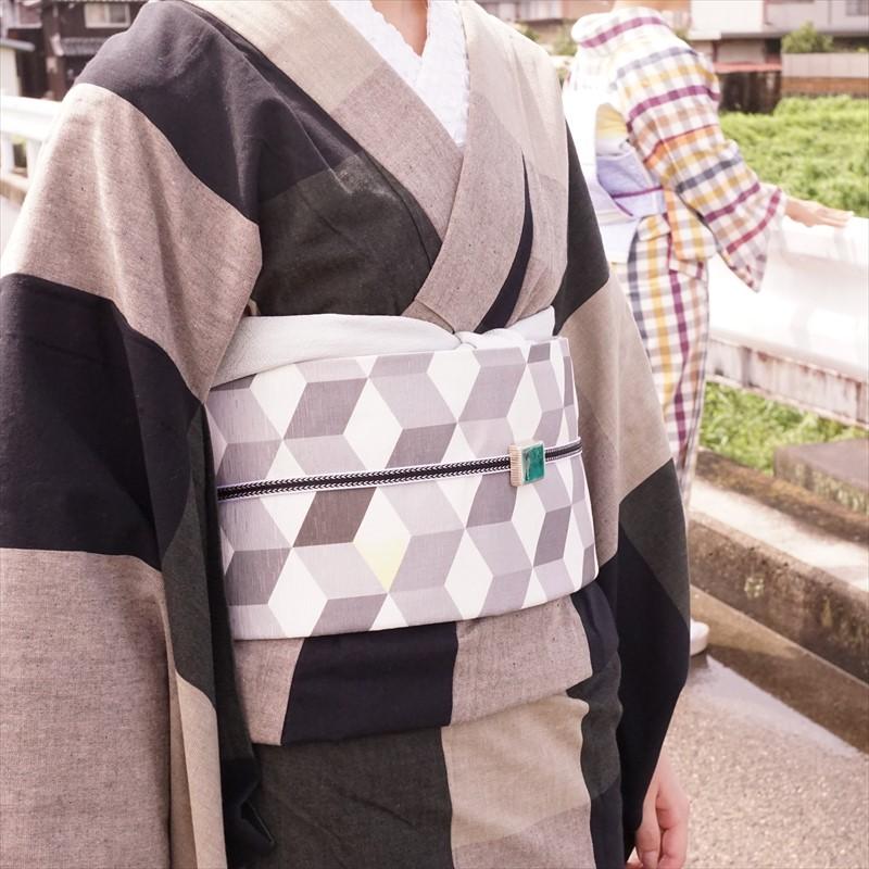 \ラスト1本のみ!/オリジナル京袋帯 キューブ/グレー