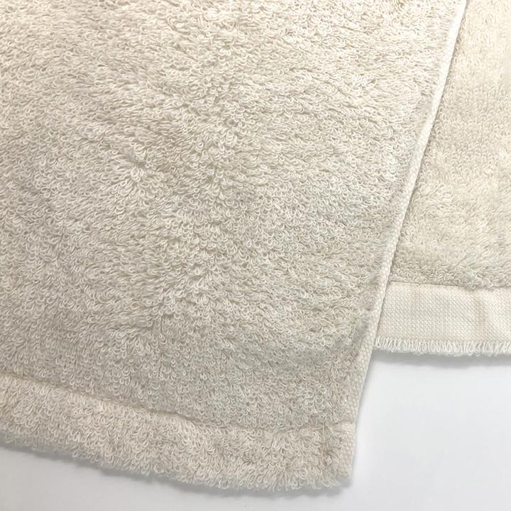 消臭・抗菌・速吸フェイスタオル(今治タオル)<アイボリー> -34cm×80cm-