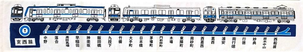 東京メトロ 東西線マフラータオル