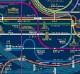 東京メトロ ZPZ路線図クリアファイル ライトブルー