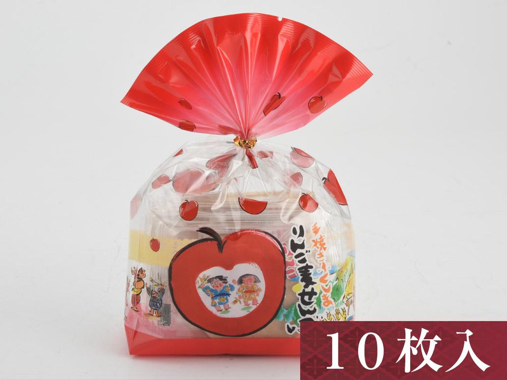 手焼き麦せんべい【りんご/10枚入】