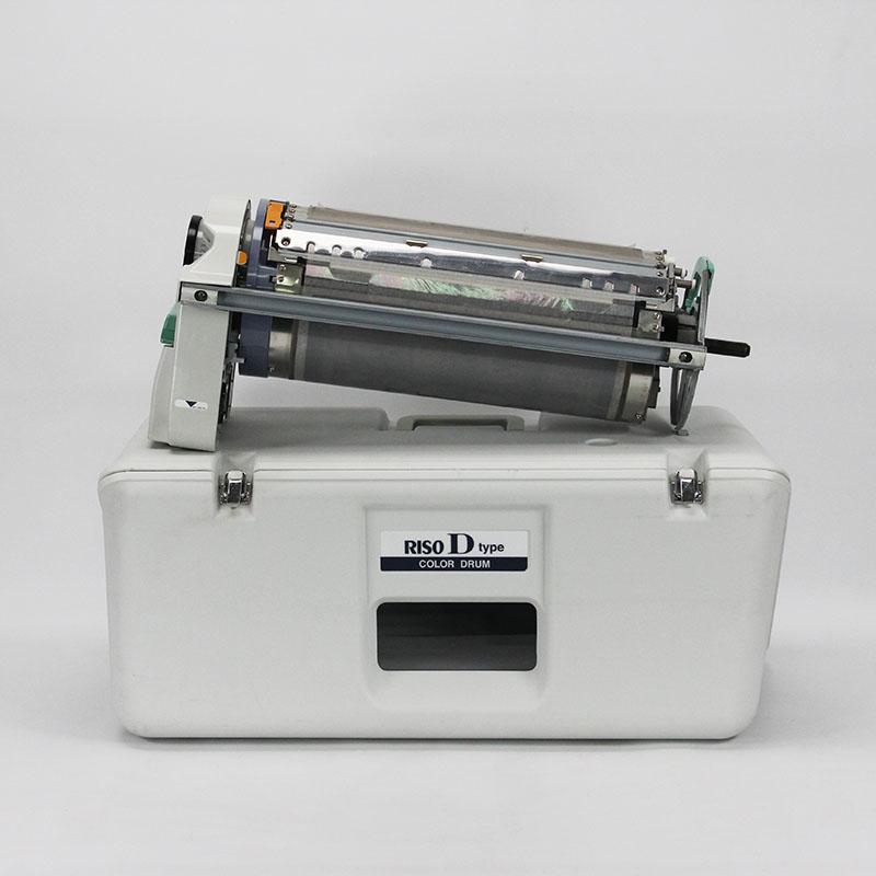【印刷機用中古カラードラム】RISO/理想科学 RISO D Type ライトグレー【A3対応】【専用ケース付】【オプション品】