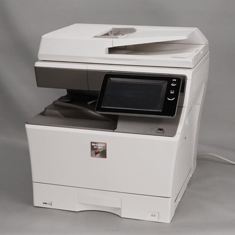 シャープ A4カラーコピー機(複合機)MX-C305W(現行機/1段カセット/カウンタ1,041枚) 中古