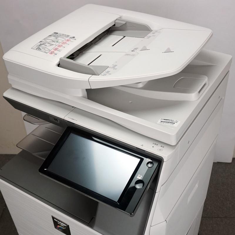 シャープ カラーコピー機/複合機MX-3150FN (無線LAN・MacOS対応/26,582枚) 中古