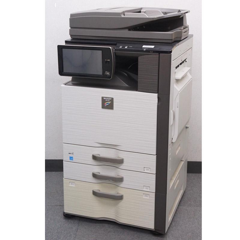 シャープ(SHARP) カラーコピー機(複合機)  MX-5141FN (カウンタ3,745枚/大容量給紙デスク増設済み/未使用トナー全色付き) 中古