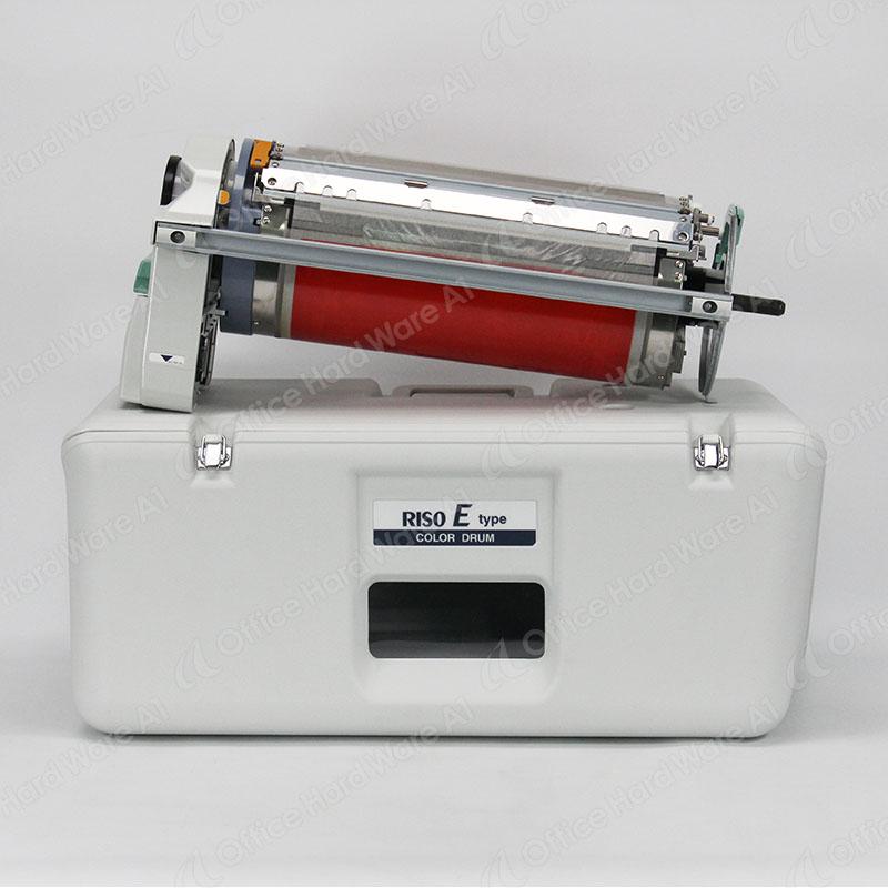 【印刷機用中古カラードラム】RISO/理想科学 RISO E Type レッド【A3対応】【専用ケース付】【オプション品】