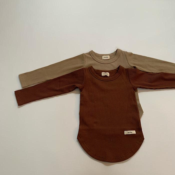リブロングTシャツ