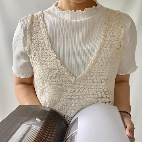 透かし編みレースキャミソール