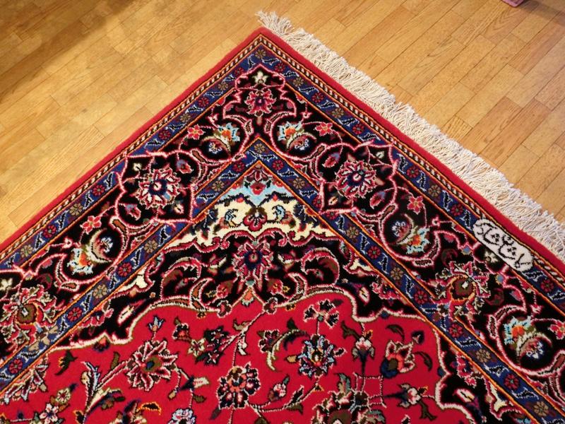 リビングサイズ(S) カーシャン産ペルシャ絨毯