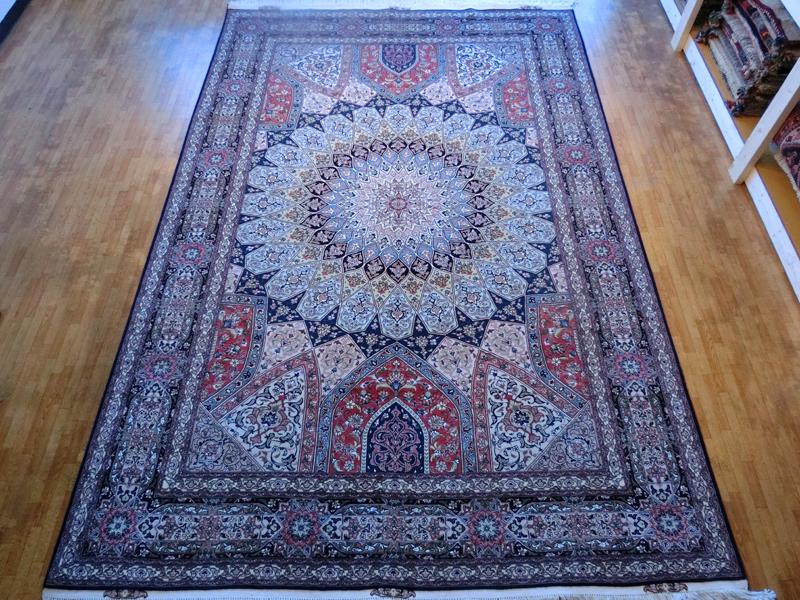 リビングサイズ(L) タブリーズ産ペルシャ絨毯