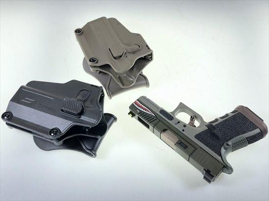 AMOMAX製 マルチフィット ユニバーサル パドルホルスター右タイプ ブラック