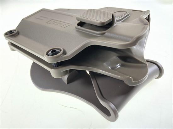 AMOMAX製 マルチフィット ユニバーサル パドルホルスター右タイプ FDE